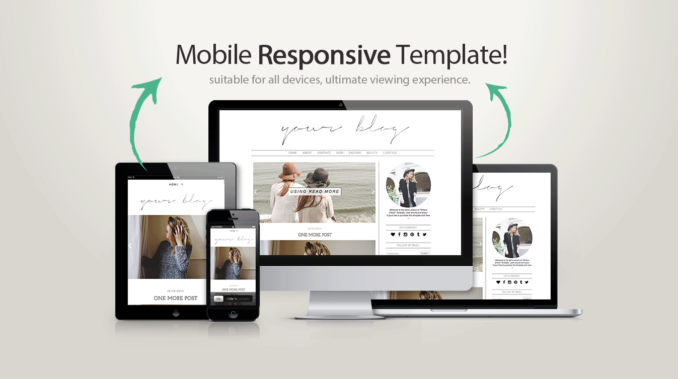 Blogger template writers dream blogger templates for What is a responsive template