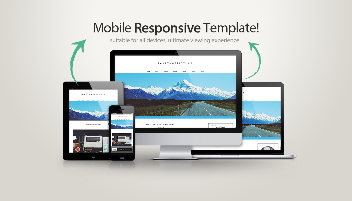 responsive, take that picture, blogger template, blogspot design, photography