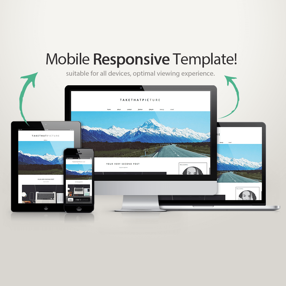 blogger product review template - responsive wordpress theme take that picture kotryna