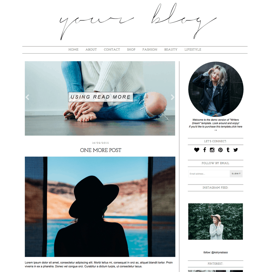 Blogger template writers dream blogger templates for Create blog page template wordpress