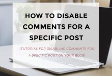 How To Disable Comments On A Specific Post?